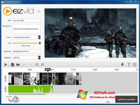 Снимак заслона Ezvid Windows 7
