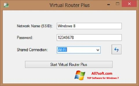 Снимак заслона Virtual Router Plus Windows 7