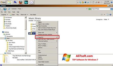 Снимак заслона MagicISO Windows 7
