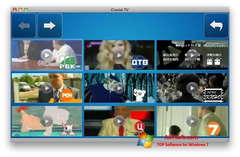 Снимак заслона Crystal TV Windows 7