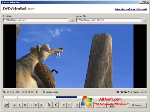 Снимак заслона Free Video Dub Windows 7