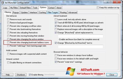 Снимак заслона Ad Muncher Windows 7