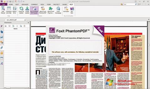 Снимак заслона Foxit Phantom Windows 7