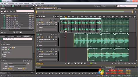 Снимак заслона Adobe Audition CC Windows 7