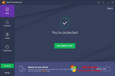 Снимак заслона Avast Free Antivirus Windows 7