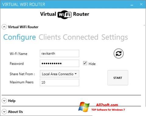 Снимак заслона Virtual WiFi Router Windows 7