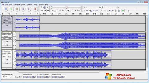 Снимак заслона Audacity Windows 7