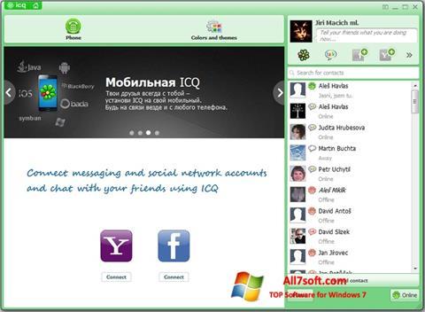 Снимак заслона ICQ Windows 7