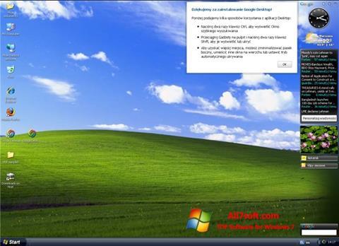 Снимак заслона Google Desktop Windows 7