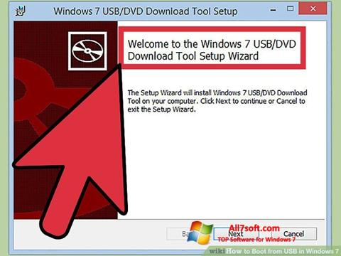 Снимак заслона Windows 7 USB DVD Download Tool Windows 7