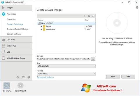 Снимак заслона DAEMON Tools Lite Windows 7