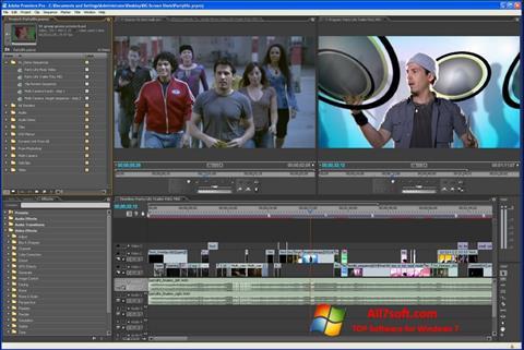 Снимак заслона Adobe Premiere Pro Windows 7