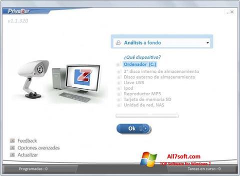 Снимак заслона PrivaZer Windows 7
