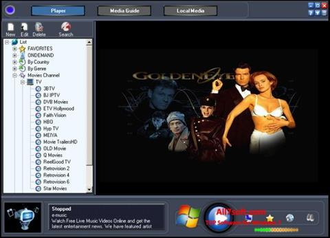 Снимак заслона Online TV Live Windows 7