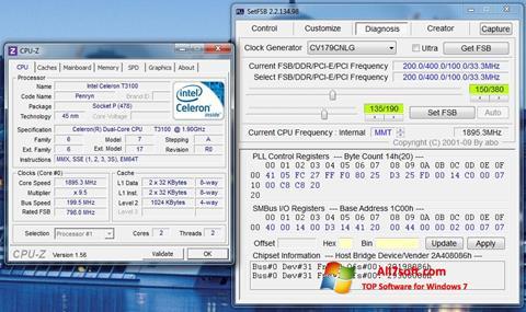 Снимак заслона SetFSB Windows 7
