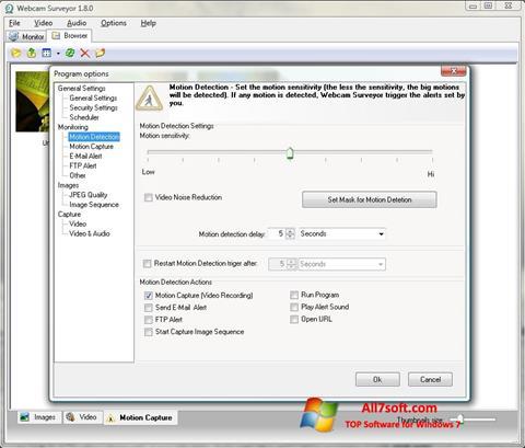 Снимак заслона Webcam Surveyor Windows 7