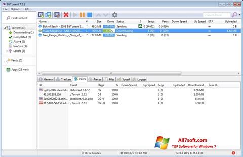 Снимак заслона BitTorrent Windows 7