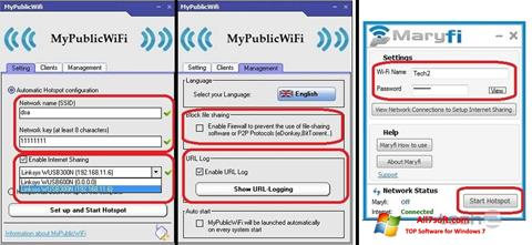 Снимак заслона MaryFi Windows 7