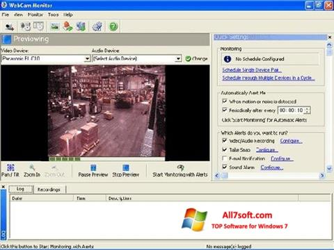 Снимак заслона WebCam Monitor Windows 7