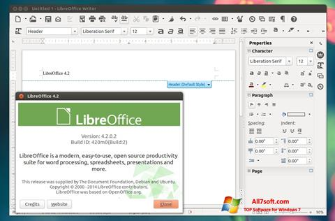 Снимак заслона LibreOffice Windows 7
