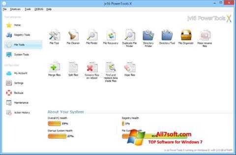 Снимак заслона jv16 PowerTools Windows 7