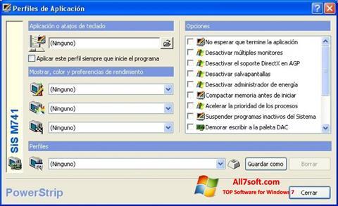 Снимак заслона PowerStrip Windows 7
