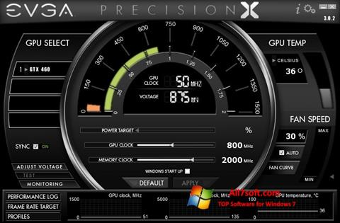 Снимак заслона EVGA Precision X Windows 7