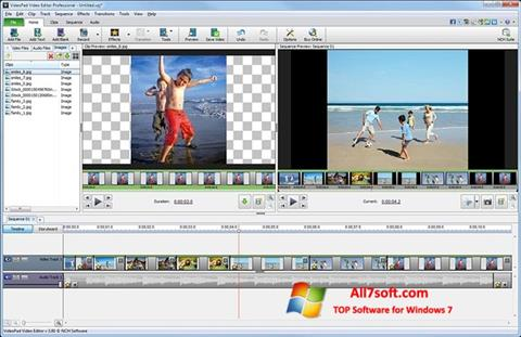 Снимак заслона VideoPad Video Editor Windows 7