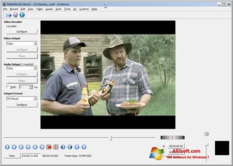 Снимак заслона Avidemux Windows 7