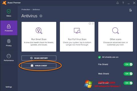 Снимак заслона Avast Windows 7