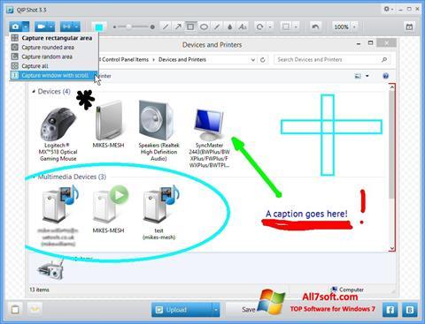Снимак заслона QIP Windows 7