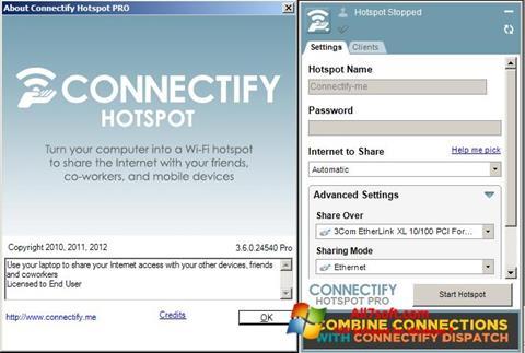Снимак заслона Connectify Windows 7