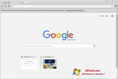 Снимак заслона Google Chrome Windows 7