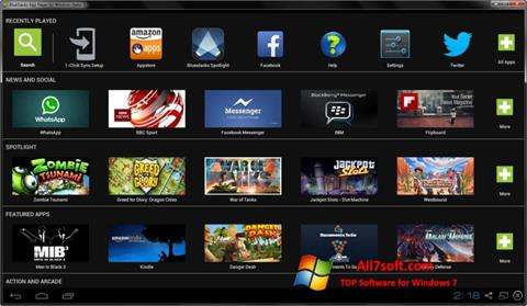 Снимак заслона BlueStacks Windows 7