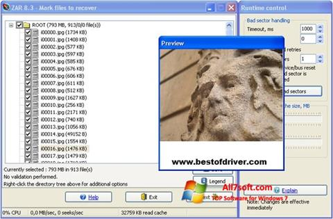 Снимак заслона Zero Assumption Recovery Windows 7