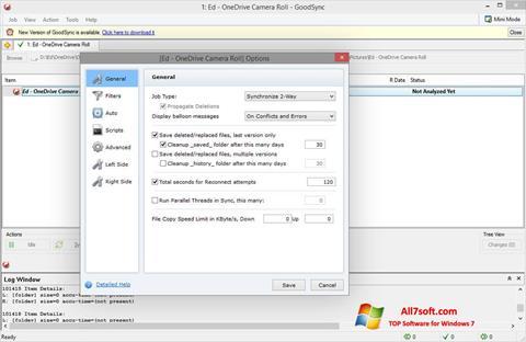 Снимак заслона GoodSync Windows 7