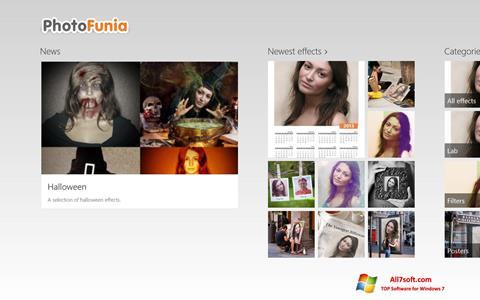 Снимак заслона PhotoFunia Windows 7
