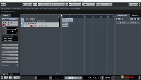 Снимак заслона Cubase Windows 7