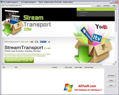 Снимак заслона StreamTransport Windows 7