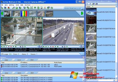 Снимак заслона Active WebCam Windows 7